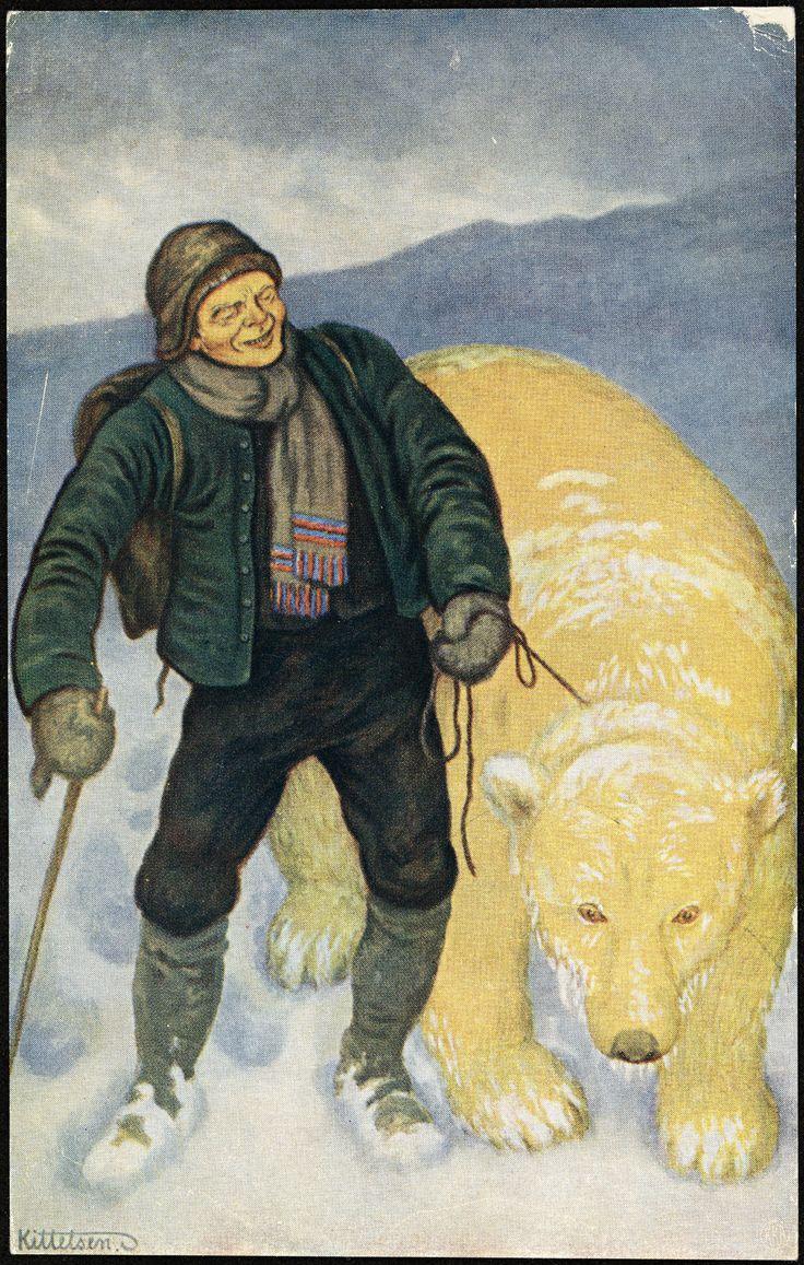 Th. Kittelsen: Jetten på Dovrefjell  http://www.nb.no/