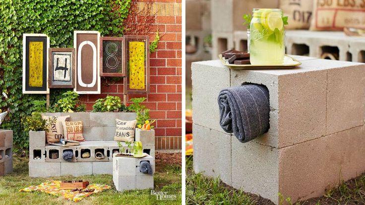 salon de jardin parpaing diy parpaings pinterest parpaing loisirs cr atifs et diy. Black Bedroom Furniture Sets. Home Design Ideas