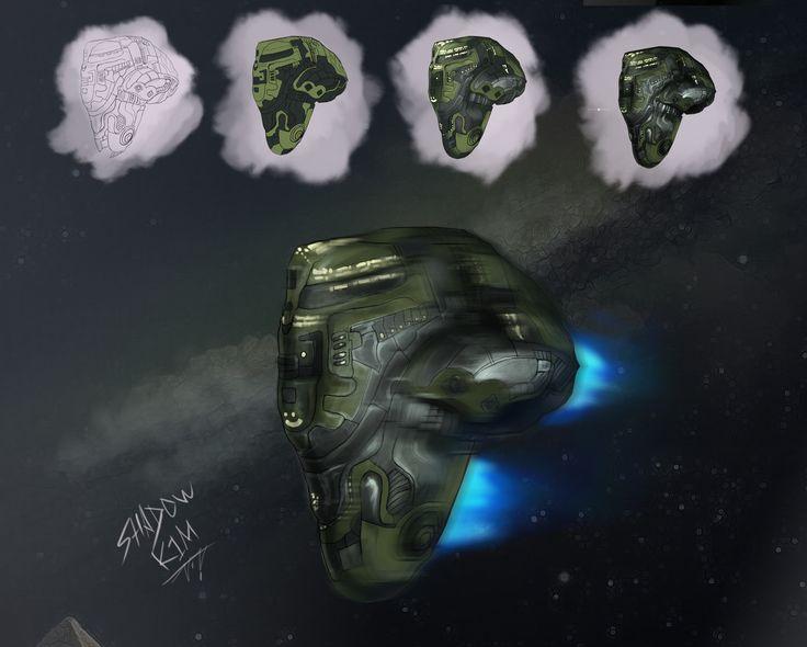 Eve Online comics spaceship concept art