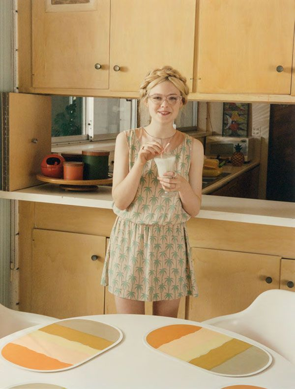 Elle Fanning by Venetia Scott for Self Service Magazine. (I want her dress!)