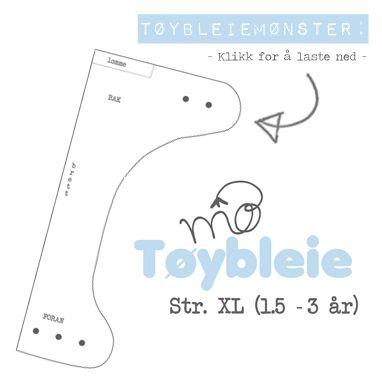 Tøybleiemønster XL | DIY | GodTid