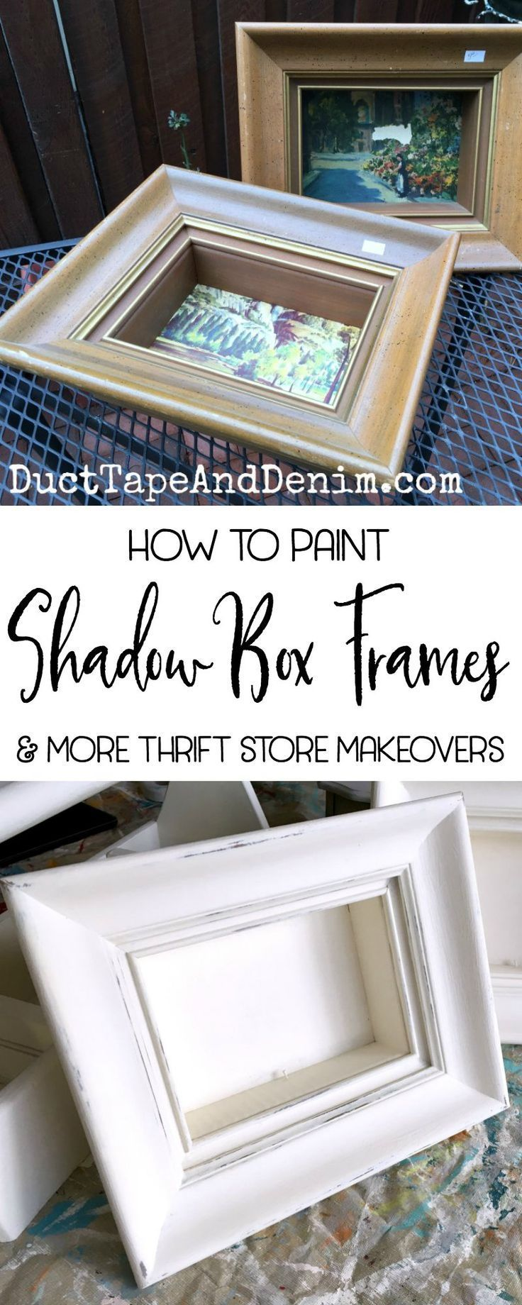 994 best thrift store makeovers images on pinterest how to paint shadow box frames to display vintage collections our monthly upcycle challenge jeuxipadfo Image collections