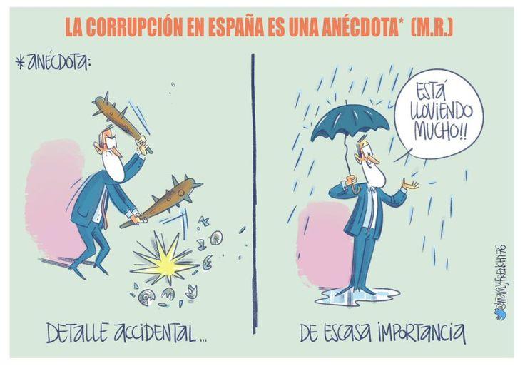 Viñeta | La corrupción en España es una anecdota - Nueva Revolución
