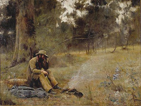 DOWN ON HIS LUCK, 1889 by   FREDERICK McCUBBIN