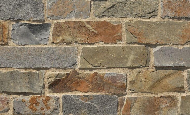 #Shadow Quarry Ranch Ledge has natural faces that are quietly textured and predominantly colorful. Its palette includes slate-blue and slate-green, warm rusts and olive browns with occasional plum-browns. http://creativemines.us/natural-masonry-veneer/ranch-ledge/shadow-quarry-ranch-ledge/ #CreativeMines