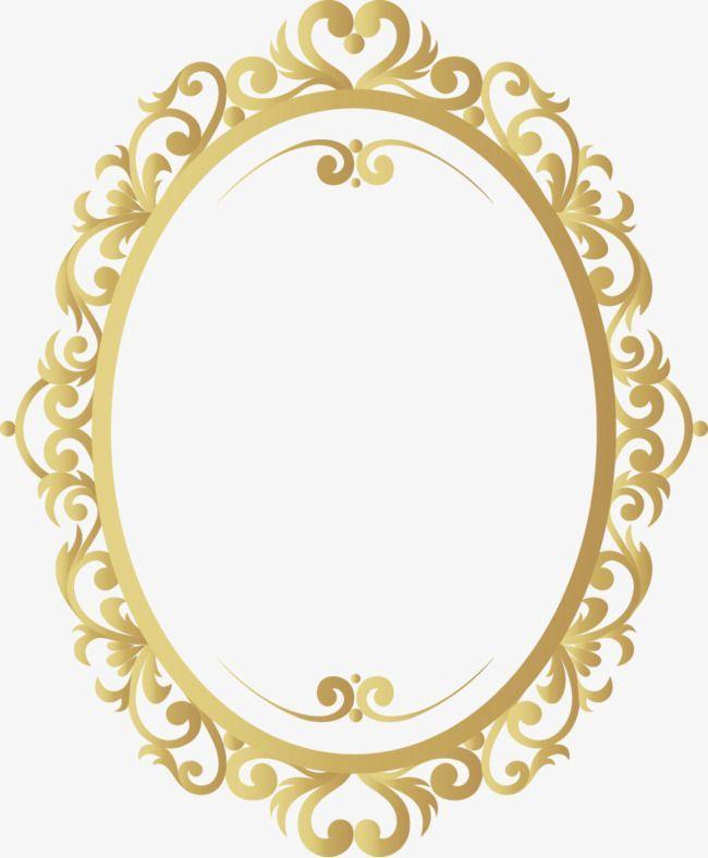 Frame Dorado Ovalado Png Busqueda De Google Molduras Douradas Molduras Vintage Moldura De Espelho