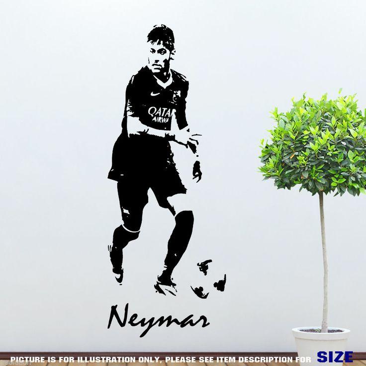 Details about neymar junior barcelona footballer wall art - Stencil barcelona ...