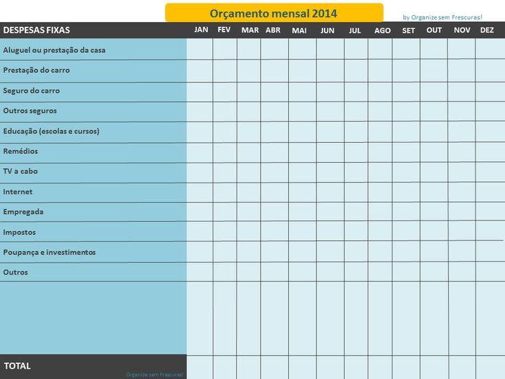 Planilha de gastos 2014- 1