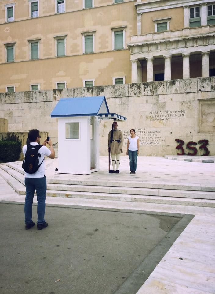 Take a shot in front of the Unknown Soldier's Monument