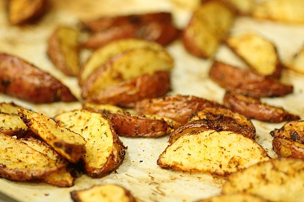 ... potato wedges herby roasted potato wedges recipe for roasted potato
