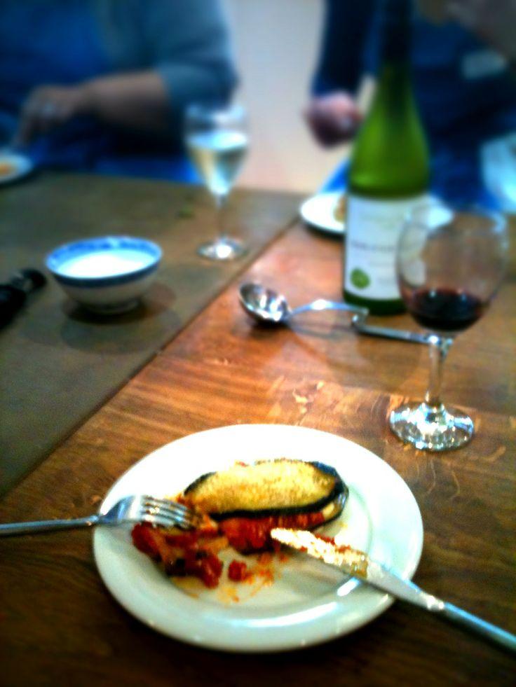 Umbrian Parmigiana di Melanzana at Food at 52 London #Cookery #School #Italian #classes