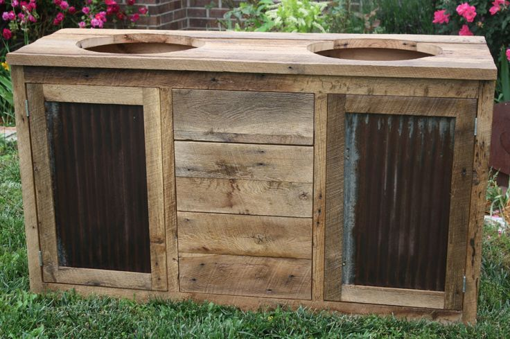 DIY Wood Working Projects: YOUR Custom Made Rustic Barn Wood Double Vanity, C...