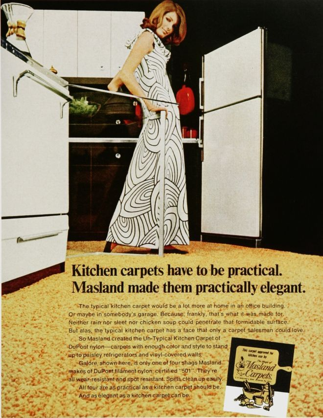 When People Actually Put Carpet In The Kitchen. Vintage Furniture Ads Of  The 1960s (