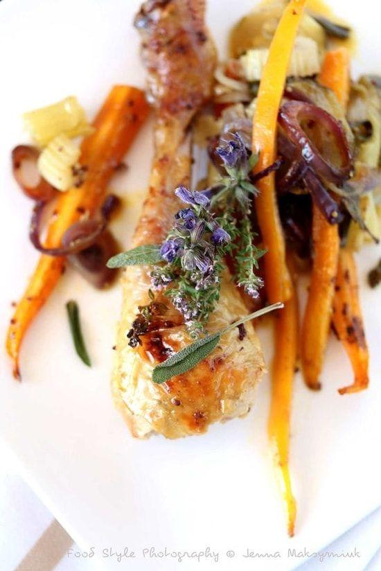 Recette de Cuisses de poulet fermier au four : la recette facile