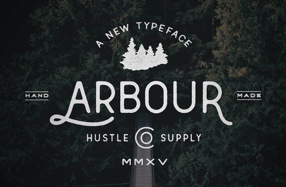 Arbour - Hand Drawn Font by Hustle Supply Co. on @creativemarket