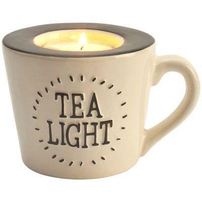 Ceramic Tea Cup Tealight Holder - Amour Decor
