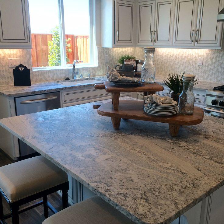 Monte Cristo Satin U0026 White Cabinets Makes This Kitchen Very Light And Airyu2026  Light GraniteGranite SlabGranite CountersRemodeled ...