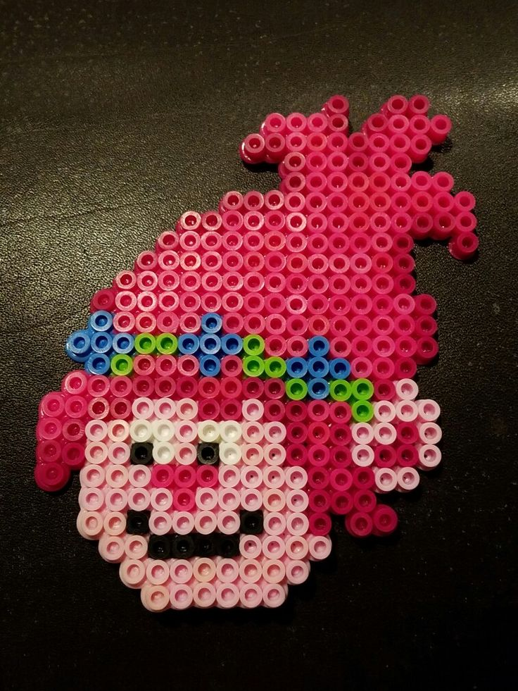 Poppy from Trolls made of perler beads