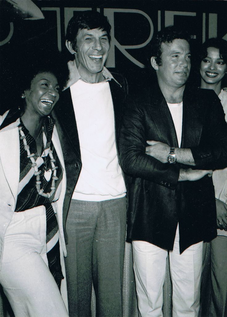 (L-R) Nichelle Nichols, Leonard Nimoy and William Shatner. Promotional for Star Trek The Motion Picture. (1979-80)