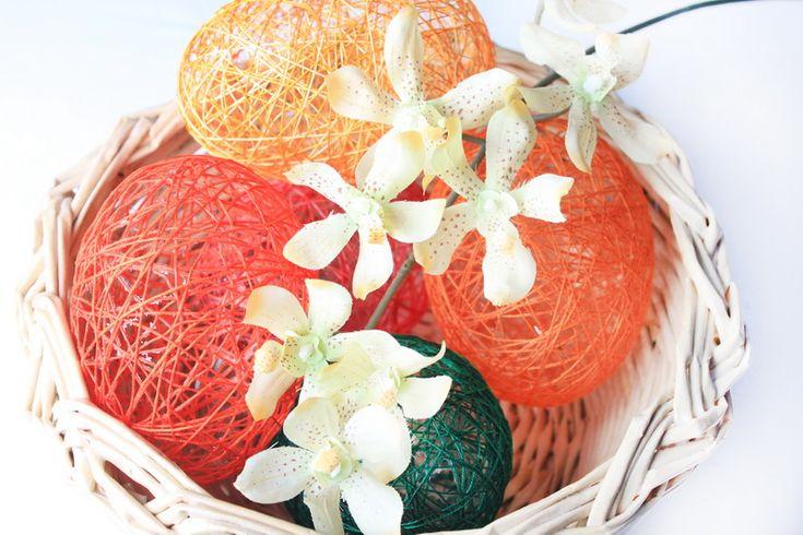 Velikonoční vajíčka z příze