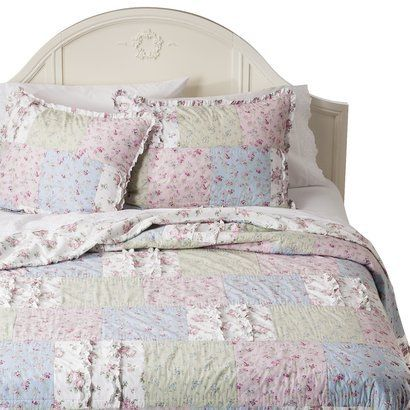 simply shabby chic ditsy patchwork quilt multi for. Black Bedroom Furniture Sets. Home Design Ideas