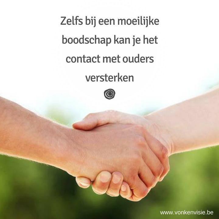 """'IN GESPREK MET OUDERS - Ook bij moeilijke boodschappen' 1 en 2 december 2016 - met Maarten Van de Broek  http://www.vonkenvisie.be/onderwijs/kalender-open-aanbod/meer-informatie/100/  """"Uw zoon lijkt een leerachterstand op te lopen.""""  """"We denken dat uw dochter eigenlijk niet op haar plaats zit in deze school.""""  """"Het gedrag van uw kind in de klas is problematisch.""""  Er zijn leukere dingen om te vertellen aan de ouders van uw leerlingen.  Slecht nieuws brengen vraagt om een doordachte aanpak…"""