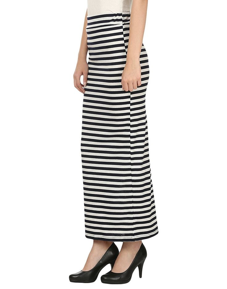 My Swag Black & White Hosiery Casual Straight Skirt For Women    Color : Black & White fabric : Hosiery Comfortable & Stylish Suit for Casual Occasion,Outdoor,Evening Party and Wedding Hand Wash Carefully,Can not High Temperature Ironing
