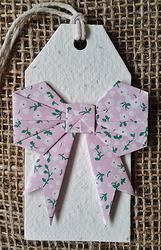 Bow - Gift Tag - Plantable seed paper