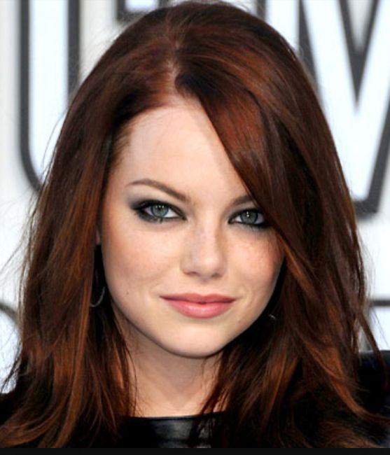 "If you want to become a redhead, look as natural as possible. I cannot stand the ""mahogany"" purples and ""fire engine"" reds. My suggestion? Go ""dark auburn,"" like Emma Stone. Lighter reds fade the quickest... - @GonkDroidBlues"