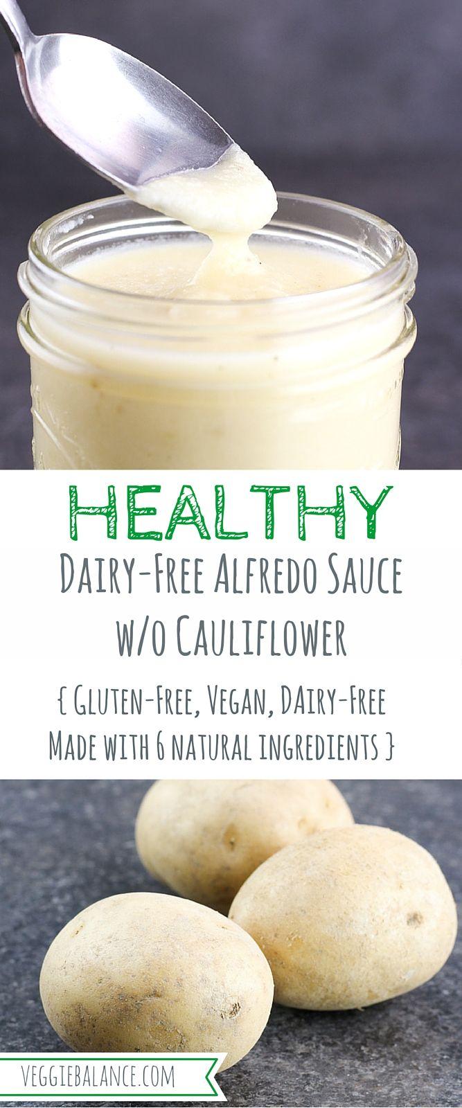 Dairy-Free Alfredo Sauce without Cauliflower {Gluten-Free, Vegan, Only 6 natural ingredients}