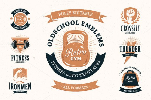 Retro Gym | Logo Templates by Vecster on Creative Market