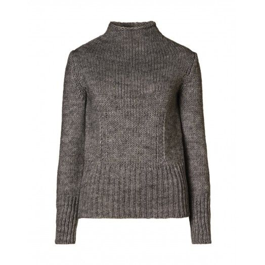 Long  sleeve jumper, made from alpaca fleece blend with ribbed trim at hems.