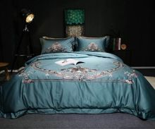 4-Pieces Bohemia style Embroidery Luxury Bedding Set King Size Queen Size Bed Set blue Duvet Cover Bed Sheet   Tag a friend who would love this!   FREE Shipping Worldwide   Get it here ---> http://bohogipsy.store/products/4-pieces-bohemia-style-embroidery-luxury-bedding-set-king-size-queen-size-bed-set-blue-duvet-cover-bed-sheet/