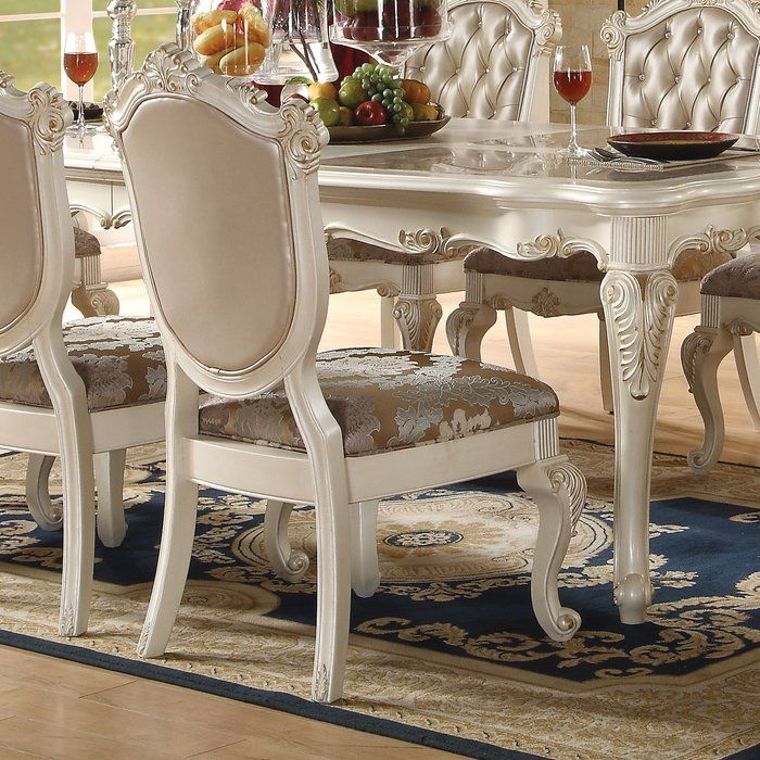 Wensley 9 Piece Extendable Solid Wood Dining Set Dining Chairs Dining Room Sets Upholstered Dining Chairs 9 piece round dining set