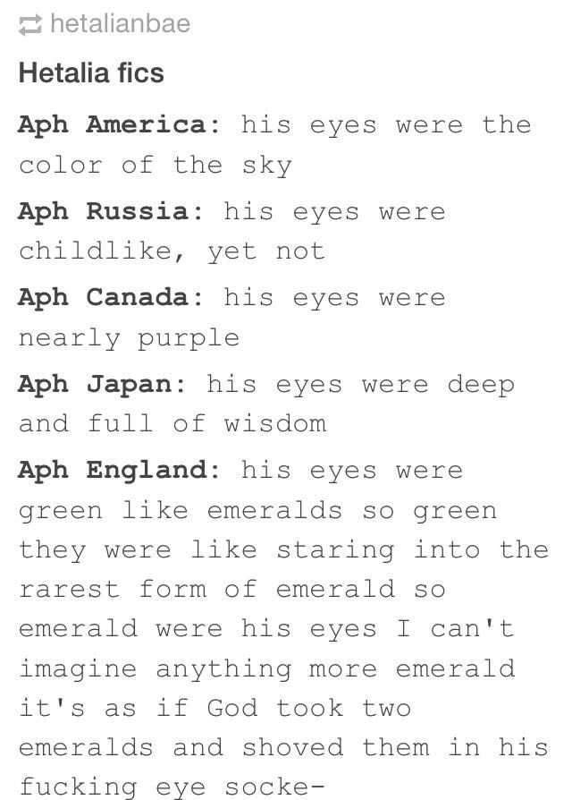 """This makes me think of a Hetagame game that's in human au (i think it's called Blood of the Rose) where Russia's just like """"your eyes are like emeralds"""" or something like that"""
