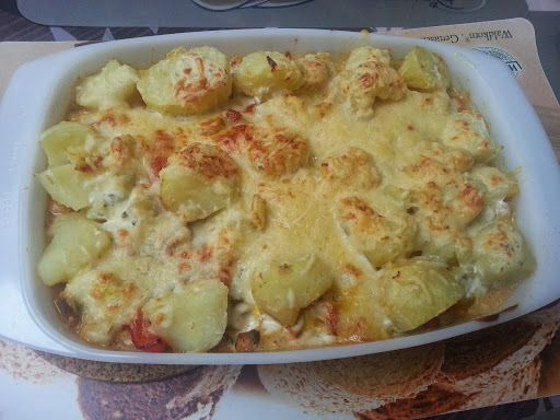 aardappelschotel met kip