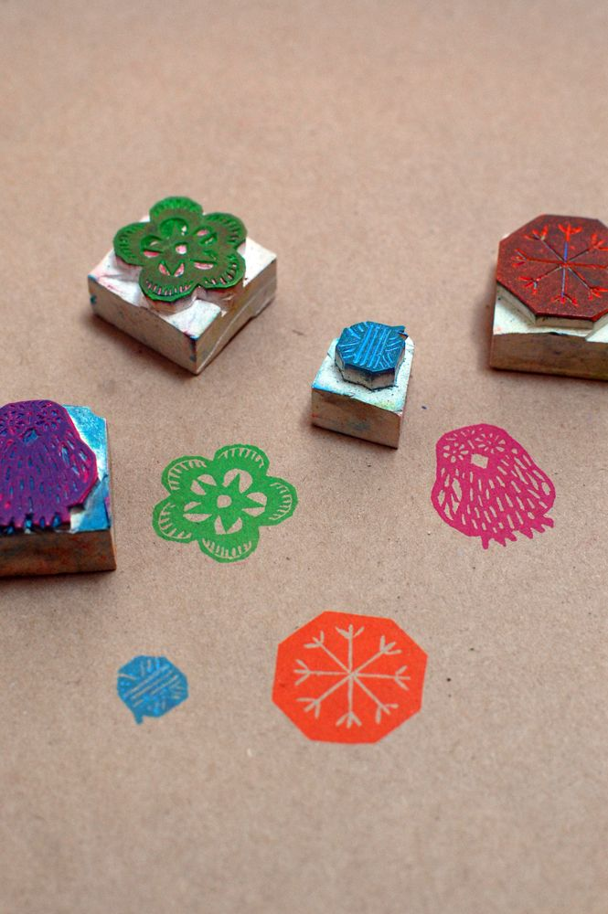 Learn to carve your own stamps with Krank Press at Feliz in Austin!