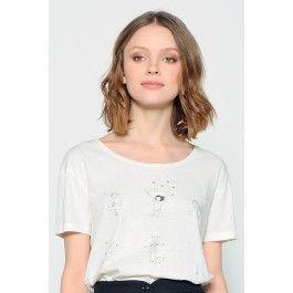 tee shirt kimou blanc @ DES PETITS HAUTS
