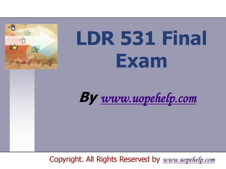 Confused and depressed about which tutorials to choose? Here is the tip. Try us and we guarantee that you will not have to look any further. We provide various homework help that you will find easy to understand. UopeHelp.com also provide LDR 531 Final Exam Latest UOP Assignments, Entire course questions with answers and law, finance, economics and accounting homework help, discussion questions, Homework Assignment etc. Join us to be straight 'A' student.