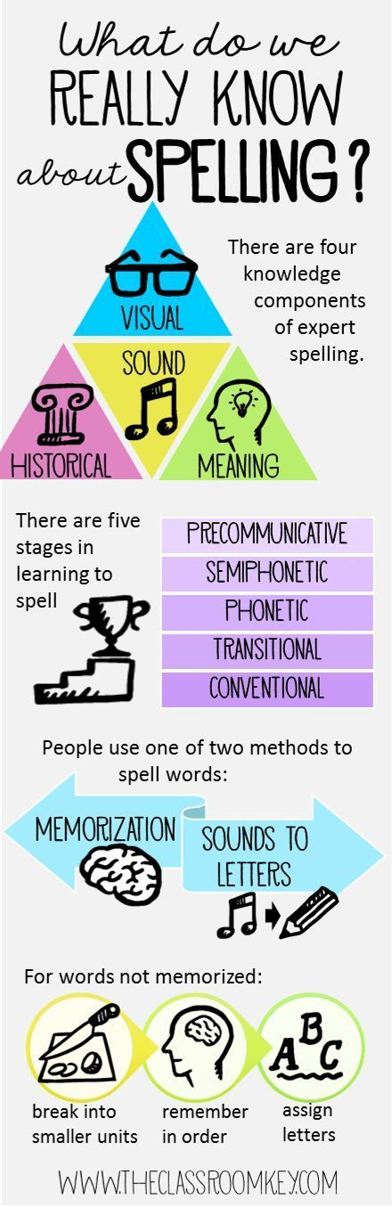 Research about teaching spelling in a handy spelling infographic