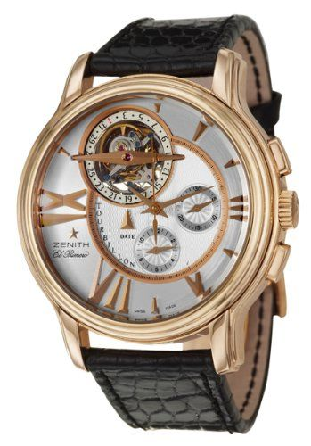 Zenith Academy Tourbillon Chronograph Men's Automatic Watch 18-1260-4005-02-C506 | Your #1 Source for Watches and Accessories