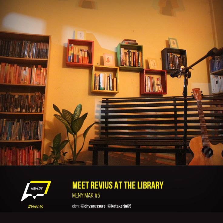 Meet Revius at the Library, yuk! Dari pertemuan di Menyimak edisi kelima di Katakerja ini, Revius dan Meet Me at the Library menemukan kesamaan mereka. Apa ya? Cari tahu di sini, http://revi.us/meet-revius-at-the-library/