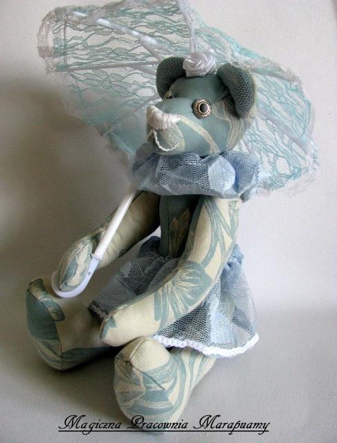 Blue Bear Ballet with umbrella...