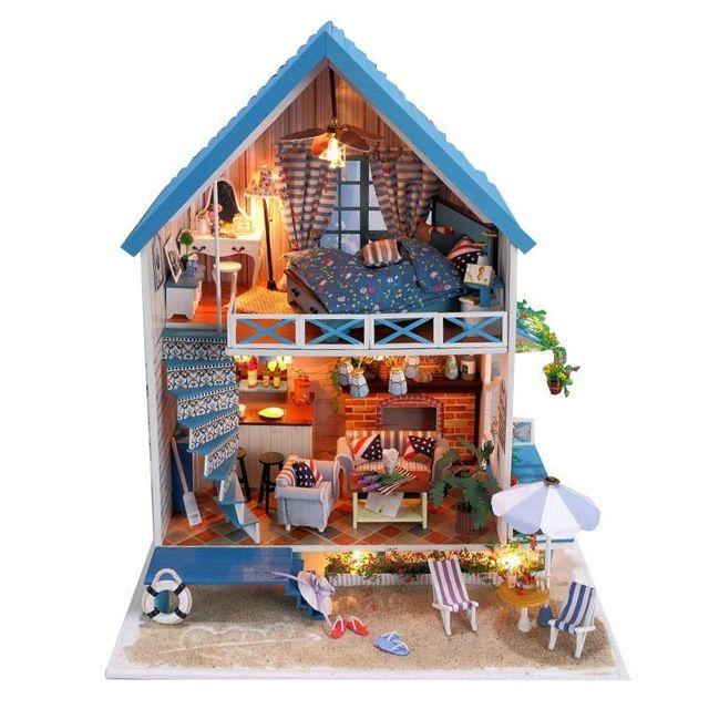 Сделай сам дом для куклы ручной работы деревянные игрушки куклы дом аксессуары мебель миниатюрные игрушки кукольный домик подарки на день рождения