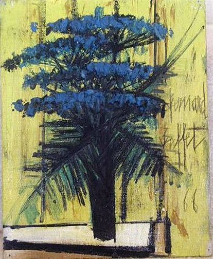 Bernard Buffet (French, 1928-1999) - Flowers, 1966