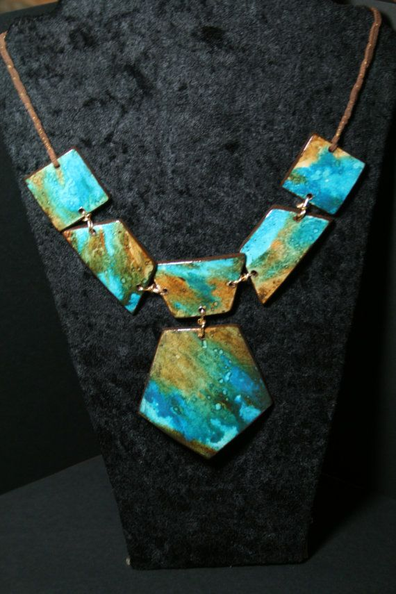 water color paper pendant necklace.. It looks like I'm buying water paints tomorrow along with a jug of glue.
