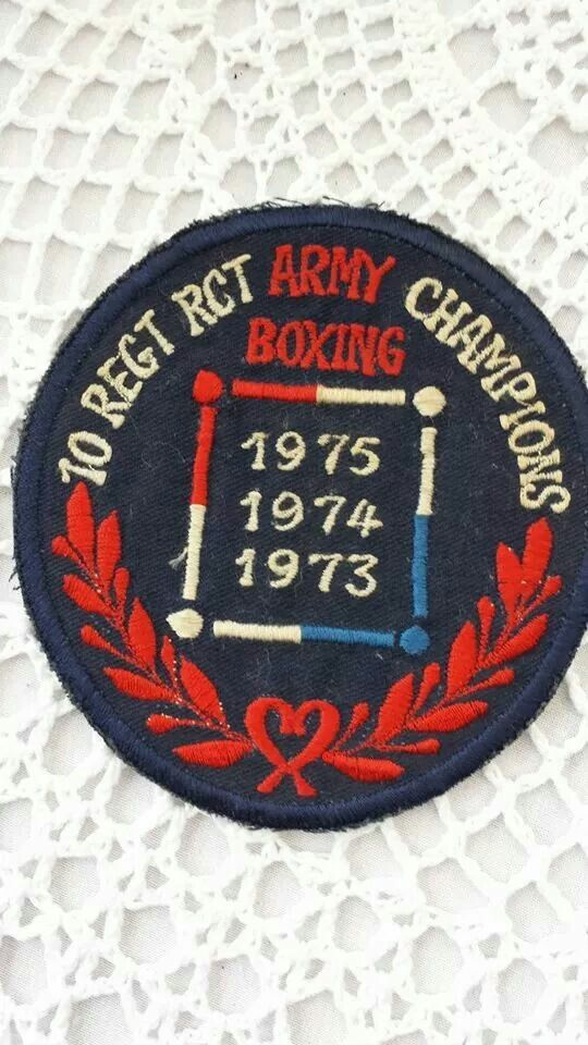 Regimental boxing colours