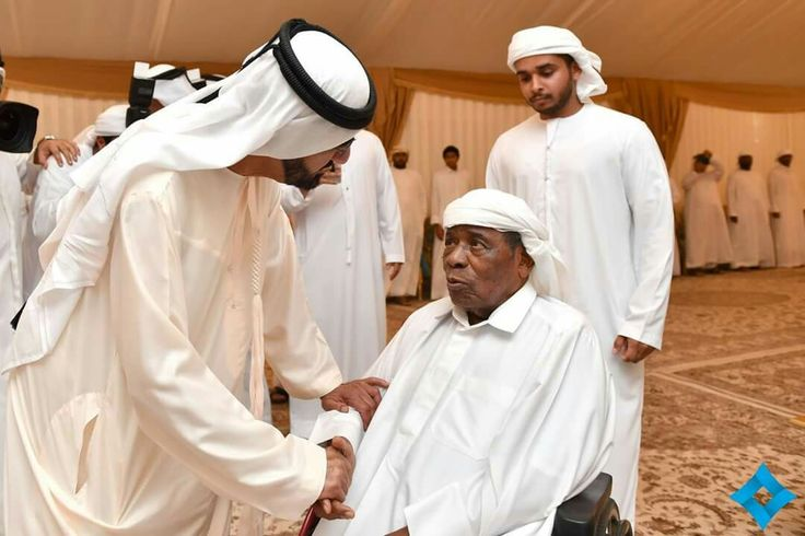 On September 23, 2016, Sheikh Mohammed and Prince Fazza offered their condolences to the family of fallen solider Saeed Juma Al Falasi.