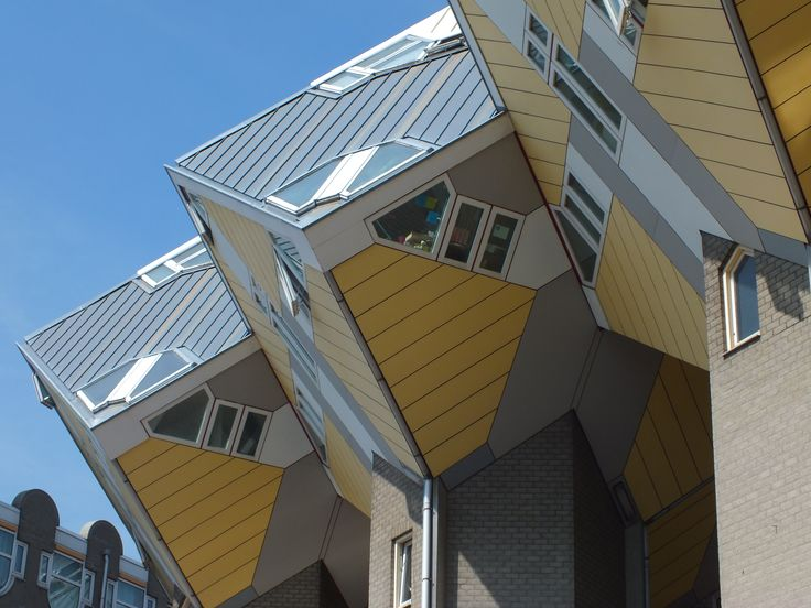 Rotterdam, experimental cubic houses of 100 sqm each