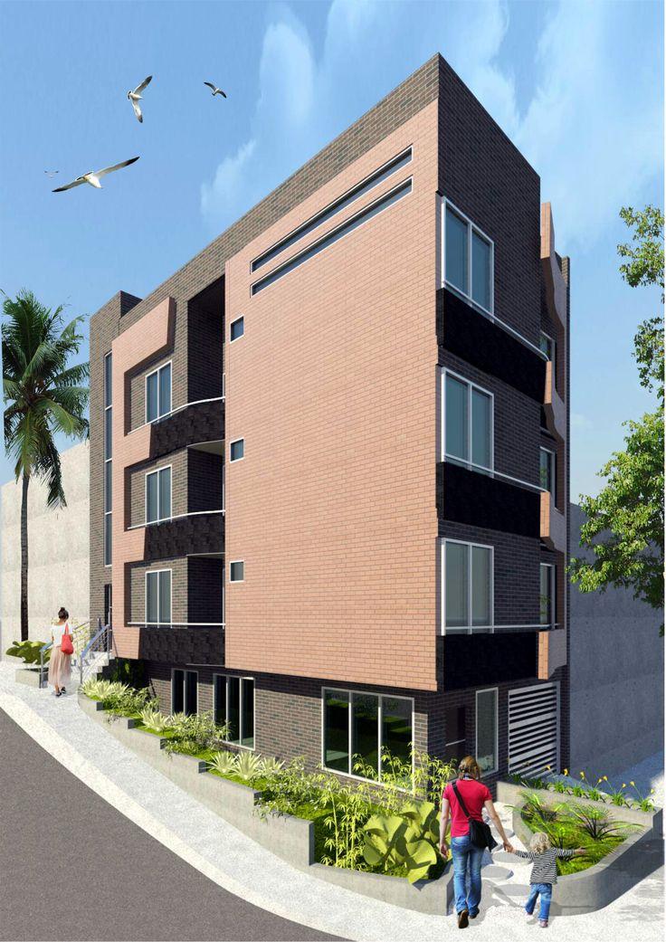 Edificio de Vivienda multifamiliar en el barrio El Trianón - Envigado - Antioquia